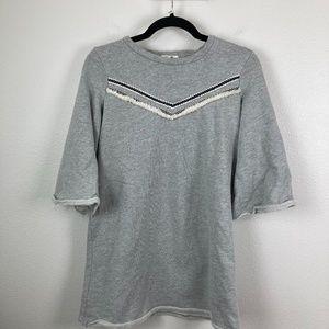 3/$20 Pleione Gray Sweatshirt Top Size S